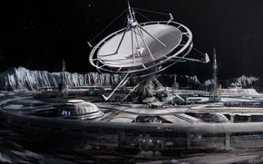 Картинка Будущее, Антенна дальней связи, Далёкая планета