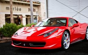 Картинка Ferrari, суперкар, Red, феррари, красная, 458, Italia