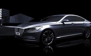 Обои Genesis, teaser, Hyundai, G90, хундай