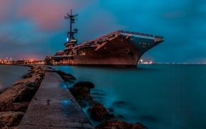 Картинка войны, авианосец, мировой, Второй, времён, типа «Эссекс», USS Lexington, (CV-16), «Лексингтон»