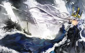 Обои арт, saberiii, девушка, меч, оружие
