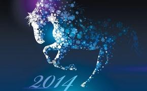Картинка новый год, 2014, год лошади