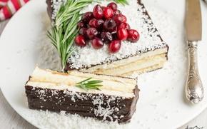 Картинка торт, крем, клюква