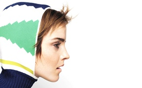 Картинка девушка, актриса, капюшон, Emma Watson, эмма уотсон