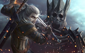 Картинка The Witcher, geralt, CD Projekt RED, Geralt of Rivia, Ведьмак 3: Дикая Охота, Witcher 3: …