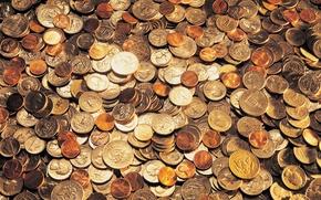 Обои золото, деньги, монеты