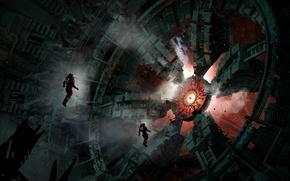 Картинка механизм, скафандр, арт, астронавты, гигантский