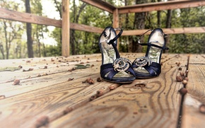 Картинка макро, фон, обувь