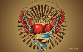 Картинка сердце, эмблема, red, герб, heart, виньетка