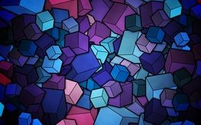Картинка цвета, кубики, вектор, фигуры