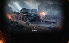 Картинка Огонь, Железо, Ствол, Пламя, Танки, Panther, World of Tanks, Мир Танков, Wargaming Net, Средний Танк, …