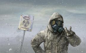 Обои Nuclear, радиация, маска