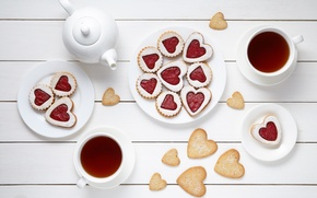 Обои valentine's day, breakfast, еда, сердце