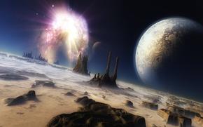 Обои вселенная, космос, mojoworld