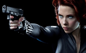 Картинка Scarlett Johansson, Чёрная вдова, Natasha Romanoff, Наташа Романофф, Мстители, The Avengers, Скарлетт Йоханссон, marvel, Black ...
