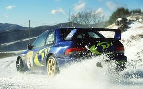 Картинка subaru, rally, impreza, wrc, snow, Colin McRae
