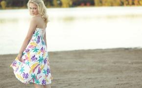 Картинка девушка, платье, блондинка, Hannah Duggan