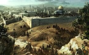 Картинка мечеть, assassins creed, Иерусалим