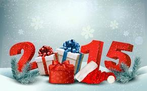 Картинка Новый Год, подарки, New Year, Happy, 2015