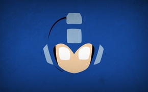 Картинка минимализм, Mega Man, blo0p