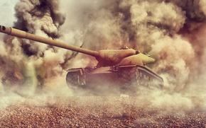 Картинка взрывы, арт, танк, USA, США, Америка, танки, WoT, World of Tanks, T57 Heavy Tank, T57