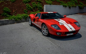 Картинка Ford, Red, Stripes
