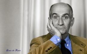 Картинка глаза, лицо, актёр, комик, режиссёр, сценарист, Луи де Фюнес, Louis de Funès