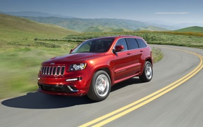 Обои Jeep, дорога, Summit, Grand Cherokee