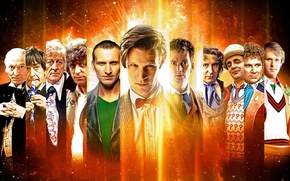 Картинка взгляд, космос, звезды, улыбка, фантастика, лица, сериал, актеры, Doctor Who, мужчины, Доктор Кто, BBC, Sci-Fi