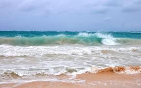 Картинка море, волны, вода, пейзаж, шторм, природа, океан, summer, sunshine, beach, sea, ocean, vacation, tropical