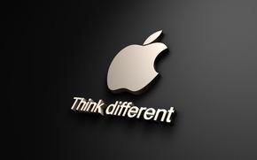 Обои apple, black, бренд