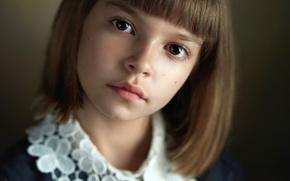 Картинка портрет, девочка, прелесть, кареглазая, Alexander Vinogradov