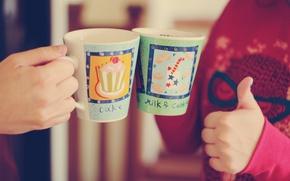 Обои знак, wallpapers, cake, красный. фон, парень, молоко, рука, обои, рисунок, девушка, настроение, полноэкранные, супер, широкоформатные, ...