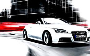 Картинка car, audi, future, urban, car white, fabulous, great car.