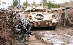 Картинка машина, война, солдат, USA, M2 Bradley