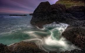 Картинка море, вода, камни