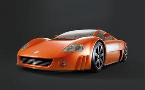 Картинка concept, Volkswagen, tuning, power, orange, germany, 2001, W12