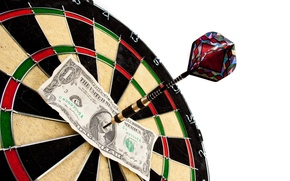 Обои note, dart target, dollar