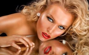 Картинка взгляд, лицо, модель, макияж, красавица