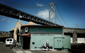 Обои мост, star wars, сан-франциско, закусочная, разведчик