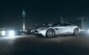 Картинка Aston Martin, City, V12, Supercar, Vanquish, Tower, Nigth