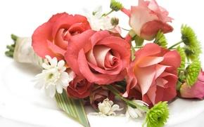 Картинка цветы, flowers, свадебные, delicate, букеты, bride, flower, красивые, cool, розы, цветок, beauty, bouquet, roses, nice, ...