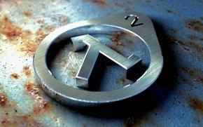 Обои знак, ржавчина, Half-life