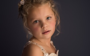 Картинка портрет, девочка, Meg Bitton