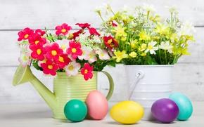 Картинка цветы, праздник, яйца, пасха