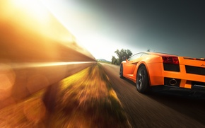 Картинка Lamborghini, Gallardo, sunset, orange, Christian Motzek