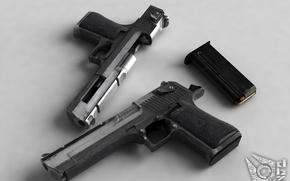 Картинка пистолет, патроны, магазин
