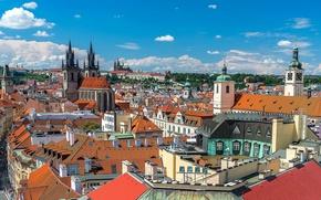Картинка Прага, Чехия, панорама
