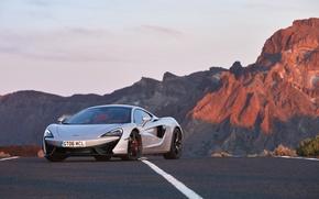 Картинка дорога, авто, разметка, McLaren, суперкар, передок, макларен, 570GT