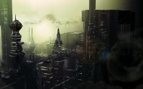 Обои будущее, Город